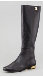 Kate Spade Black Oliver tall leather boots